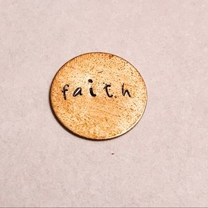 "Jewelry - ""Faith"" Custom Hand-Stamped Metal Necklace"